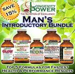 DISCOUNT BUNDLE: Man's Results Intro (SAVE 15%) (*Longevity in a Bottle, Maca Bliss and Revival Formula SHIP WITHIN 1-2 MONTHS*)